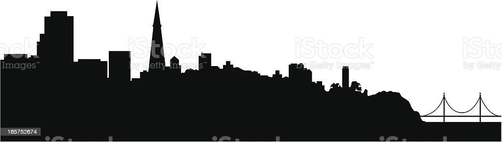 San Franciso Skyline royalty-free stock vector art