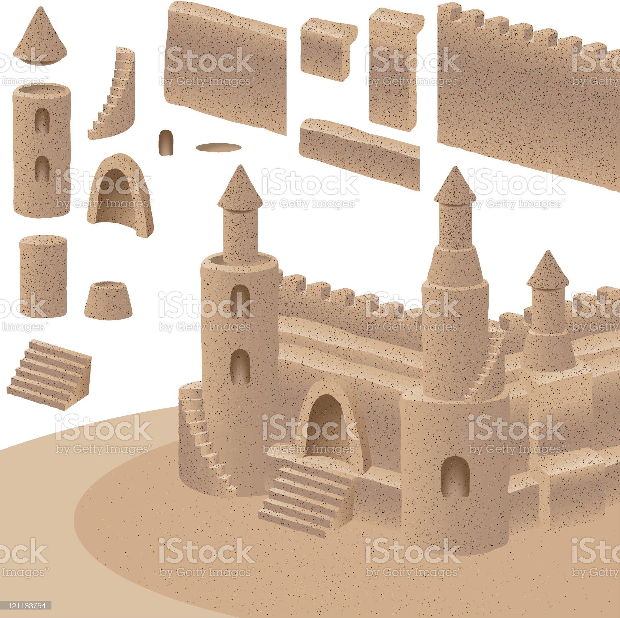 Sand Castle (CMYK) royalty-free stock vector art