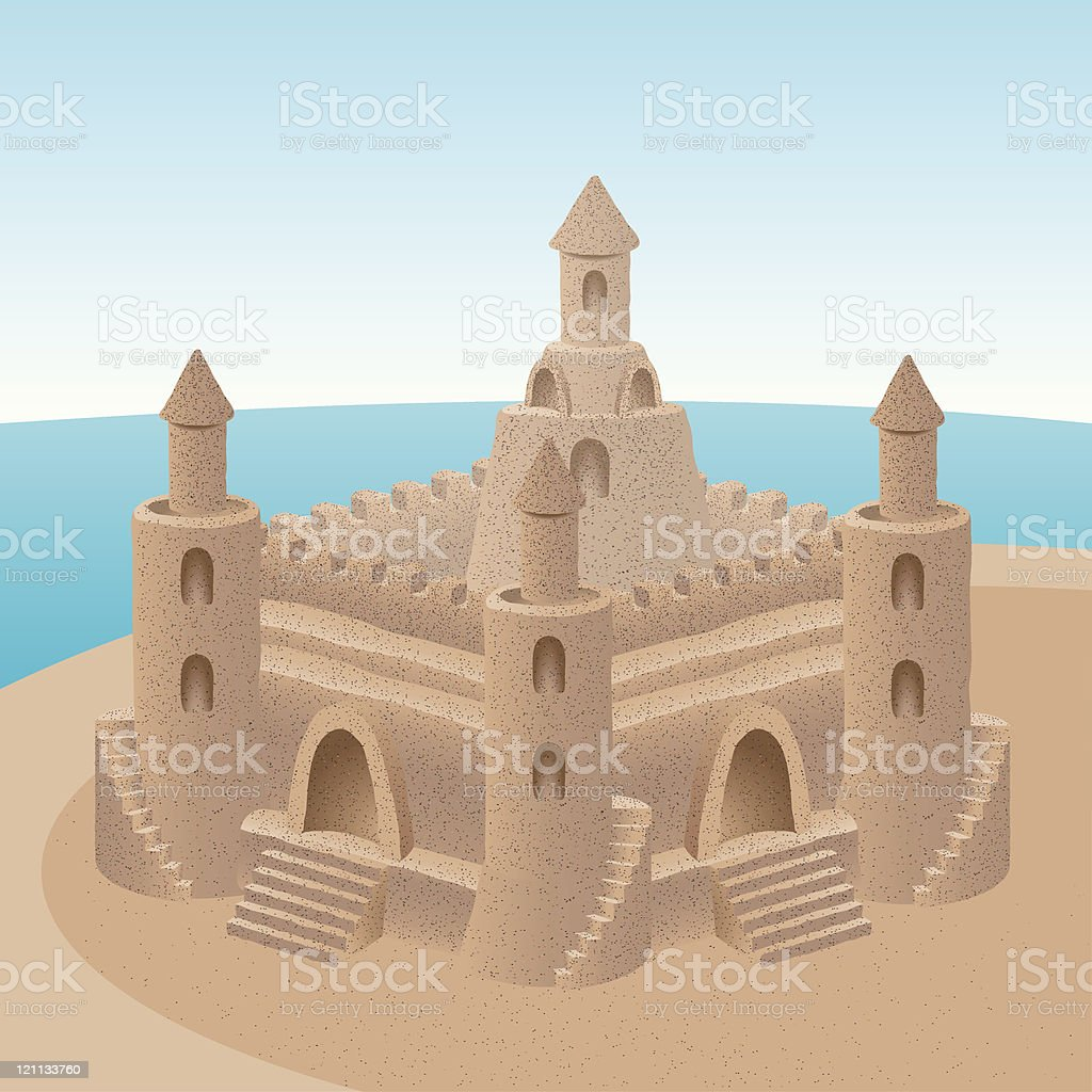 sand castle (CMYK eps8) royalty-free stock vector art