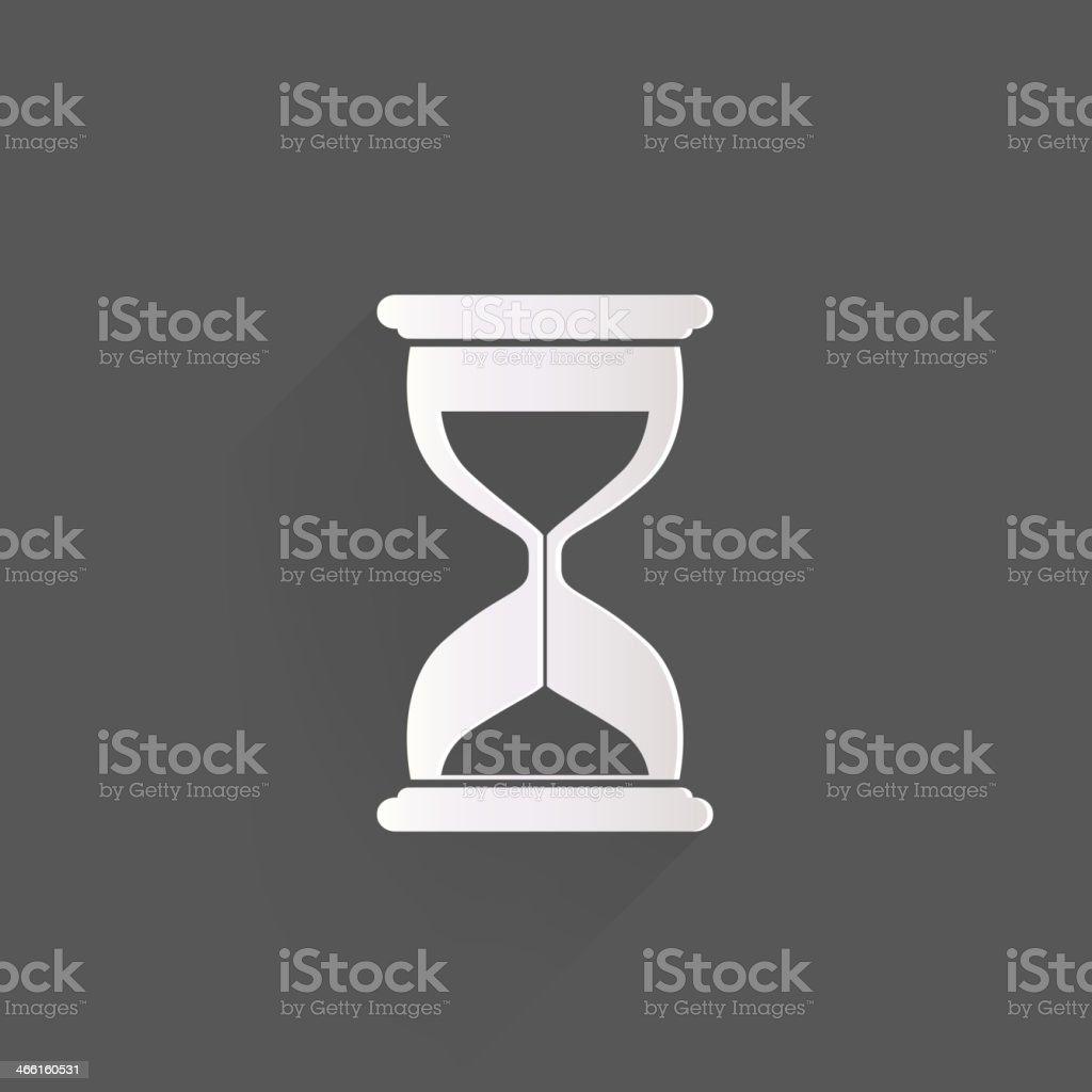 Sand clock icon. Glass timer symbol vector art illustration