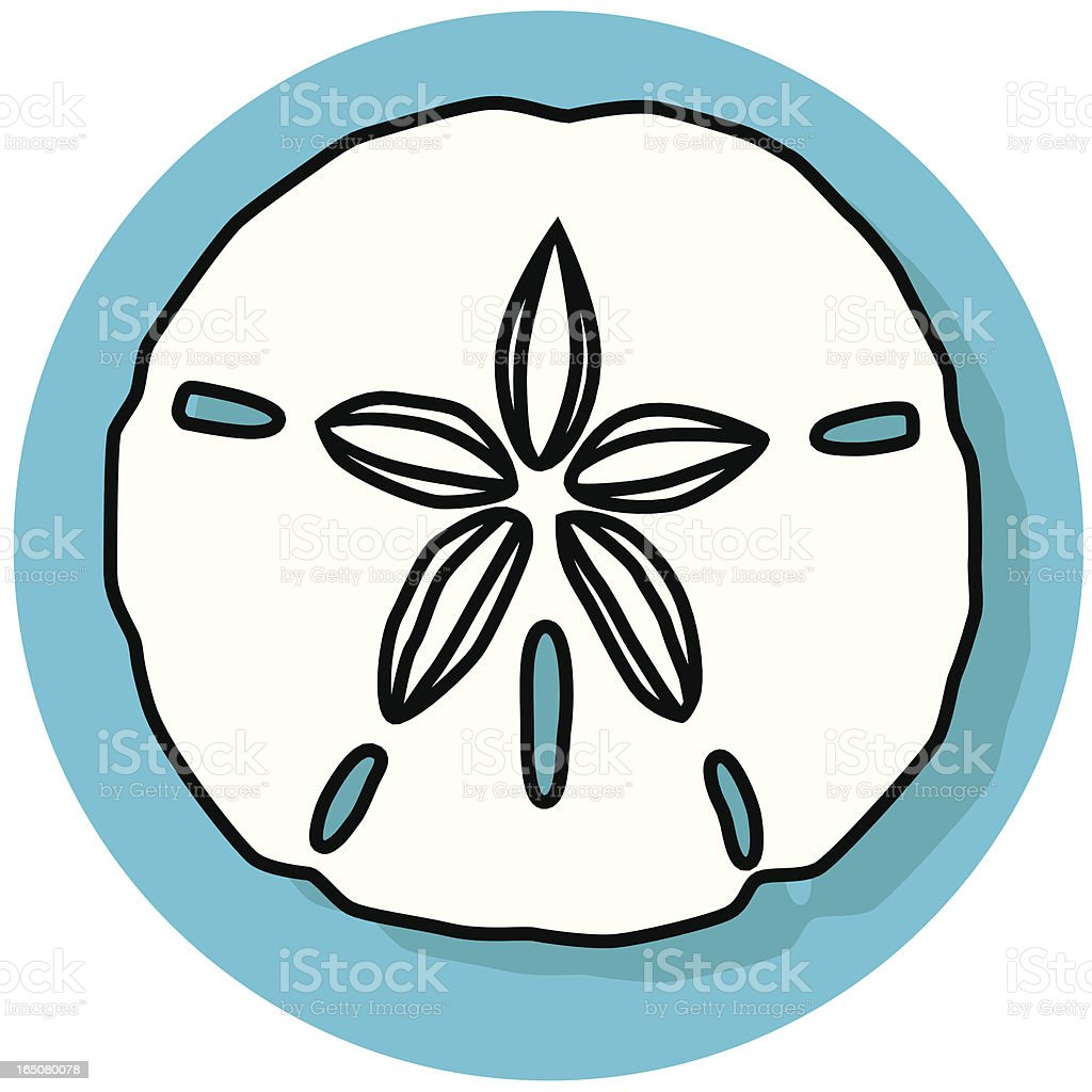 sand dollar icon vector art illustration