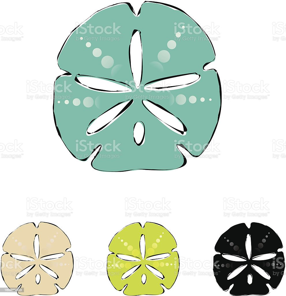 Sand Dollar vector art illustration