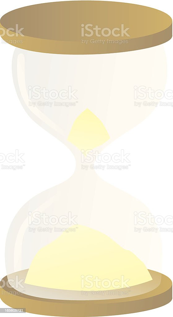 Sand glass royalty-free stock vector art