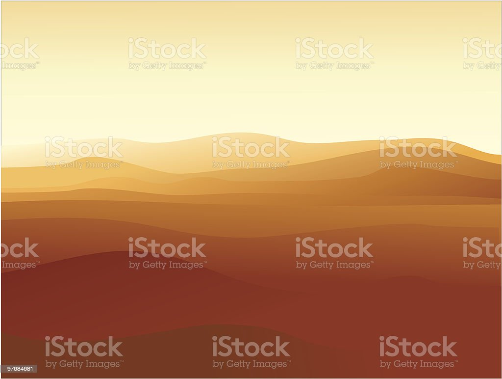 Sand land royalty-free stock vector art