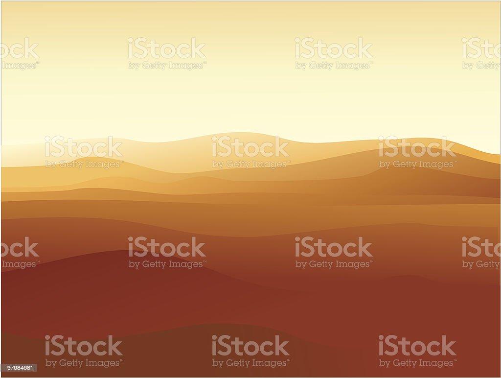 Sand land vector art illustration