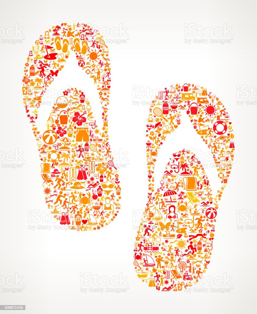 Sandals on Summer royalty free vector art Pattern royalty-free stock vector art