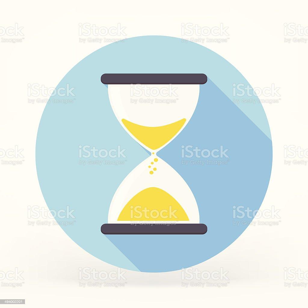 Sandglass Flat Icon vector art illustration