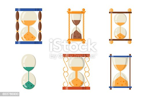 Sandglass icon  Sandglass Icon Time Flat Design History Second Old Object And Sand ...