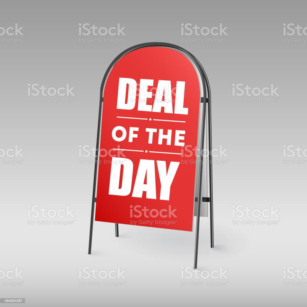 Sandwich board, Deal of the day royalty-free stock vector art