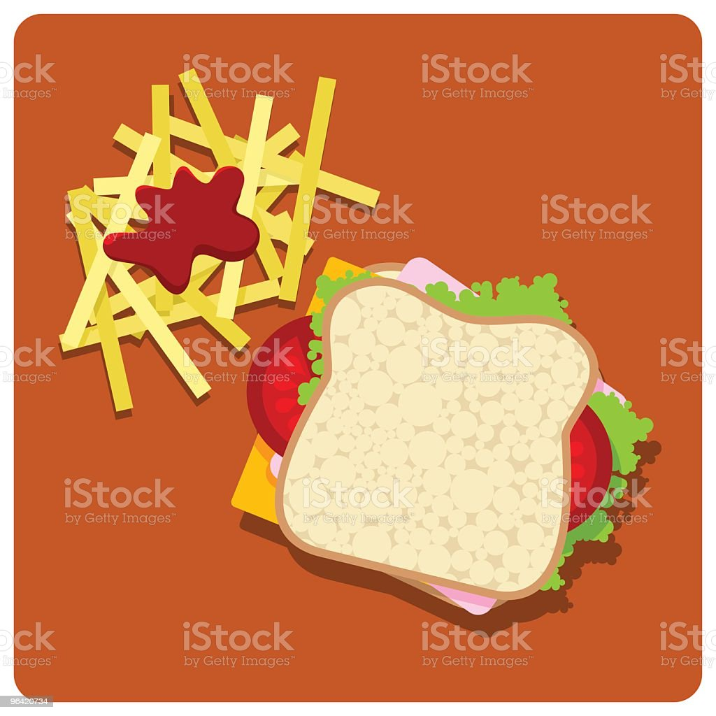 Sandwich club royalty-free stock vector art