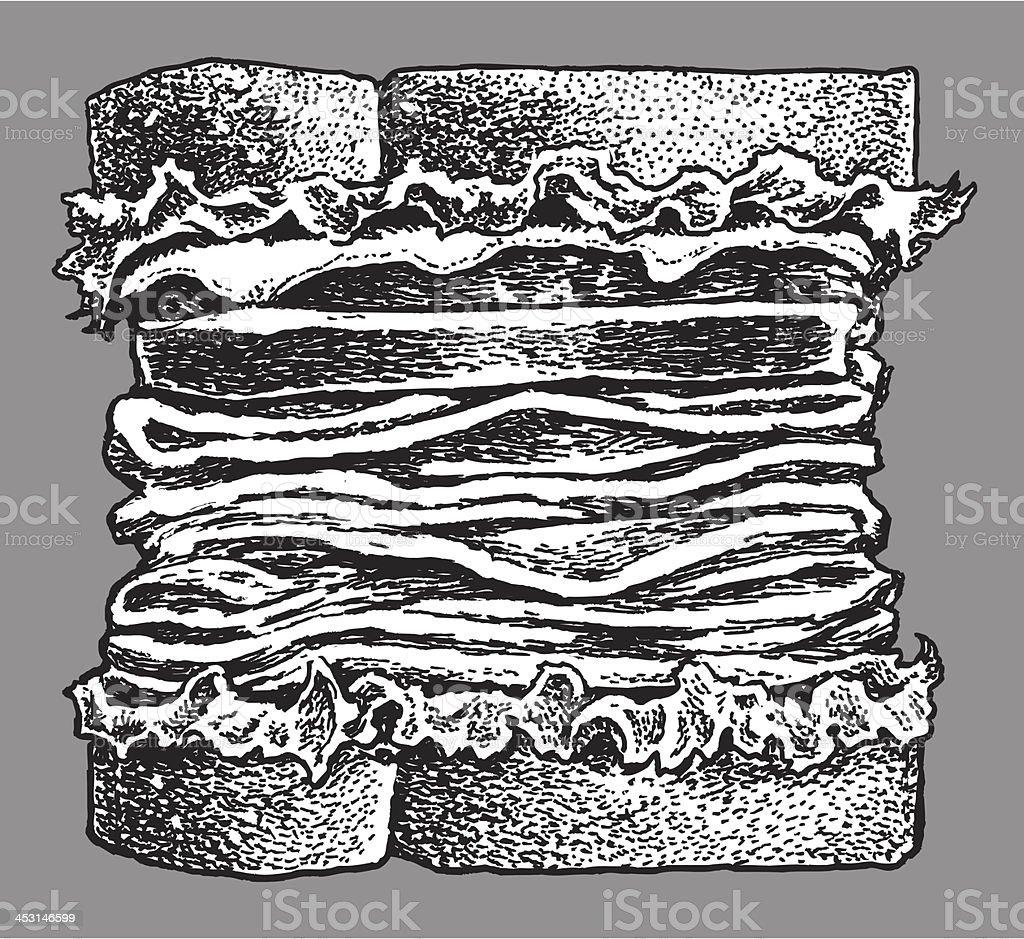 Sandwich - Lunch Snack vector art illustration