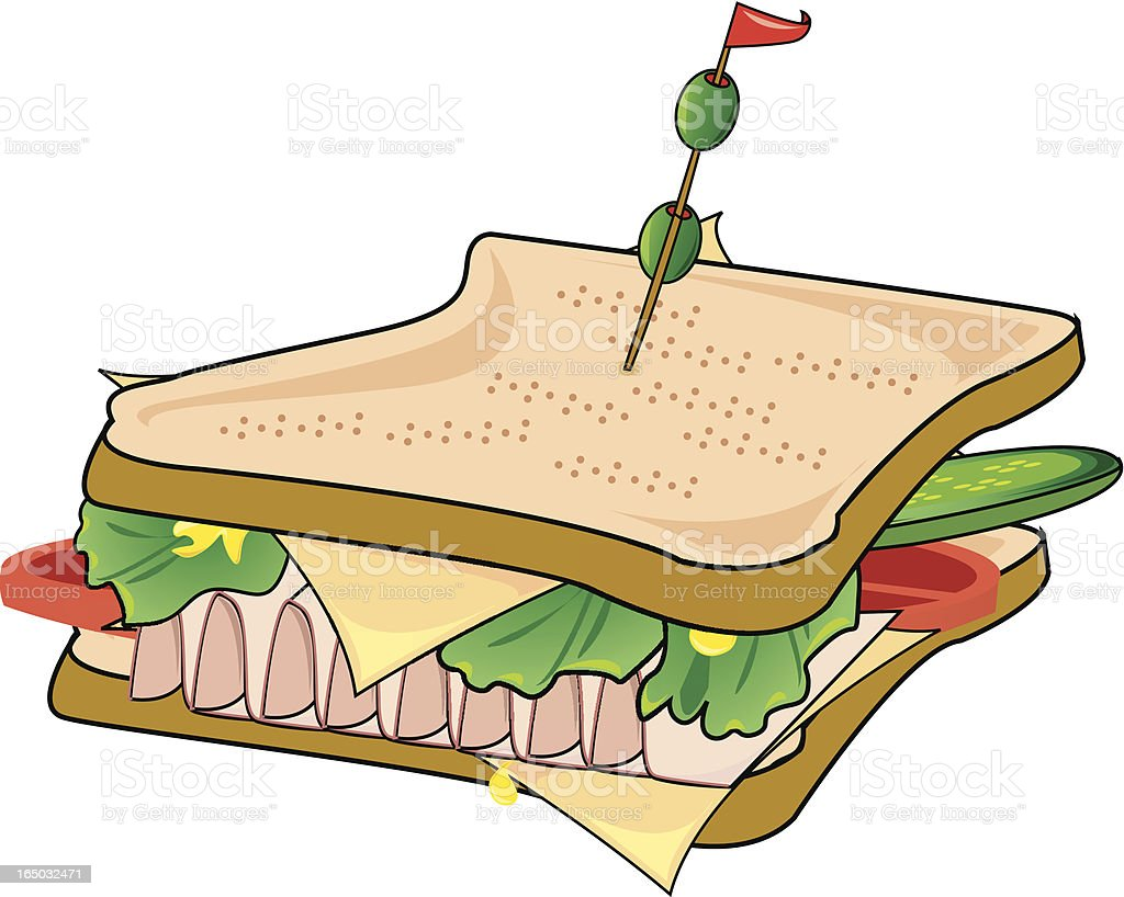 Sandwich! royalty-free stock vector art