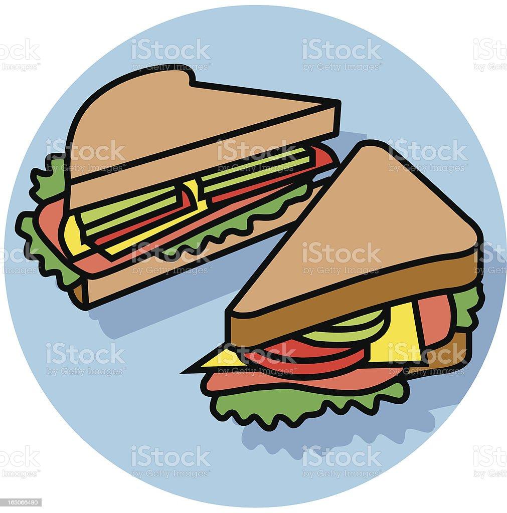 sandwich royalty-free stock vector art