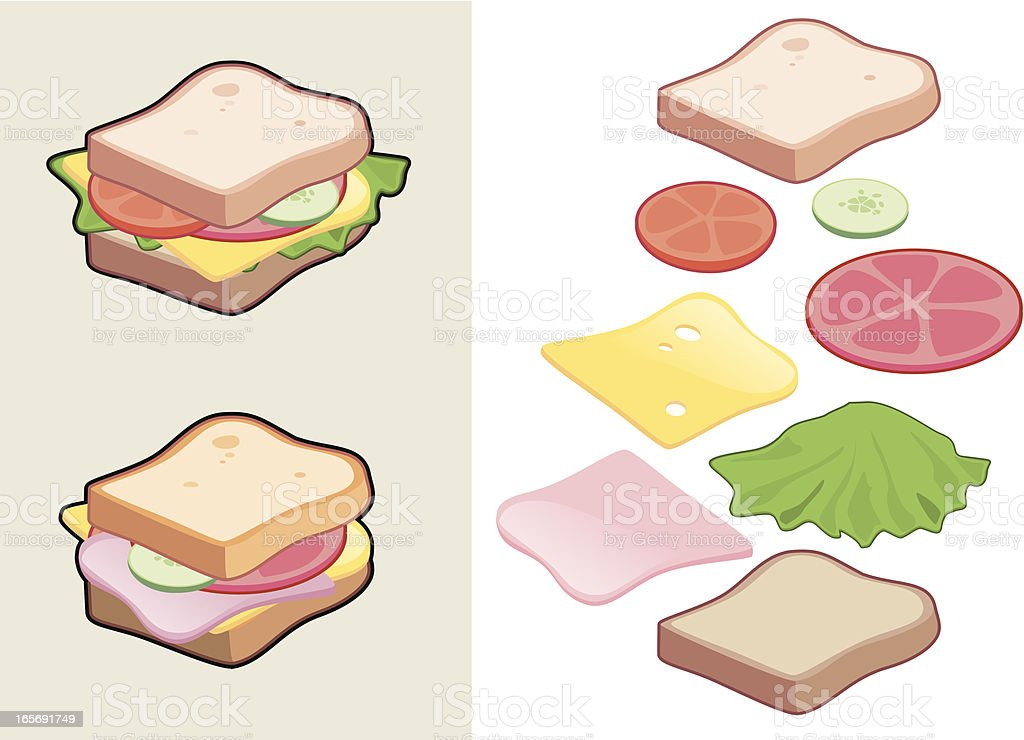 Sandwich royalty-free stock vector art