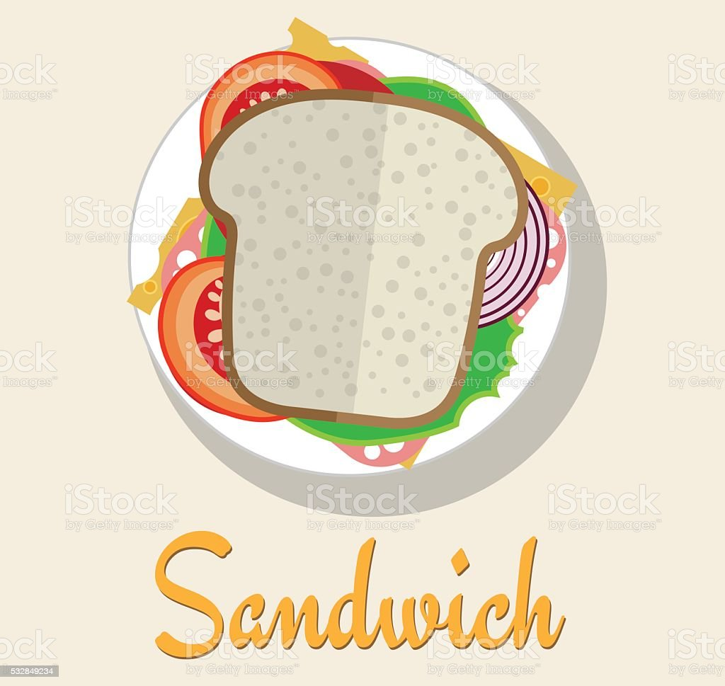 Sandwich vector art illustration