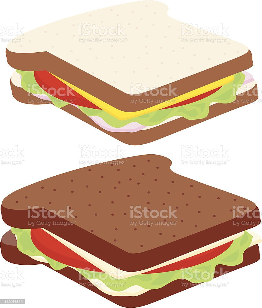 Sandwiches vector art illustration