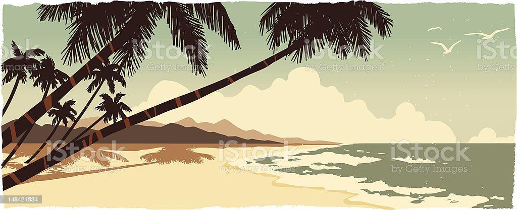 Sandy beach royalty-free stock vector art