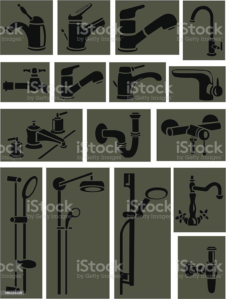 Sanitary engineering royalty-free stock vector art