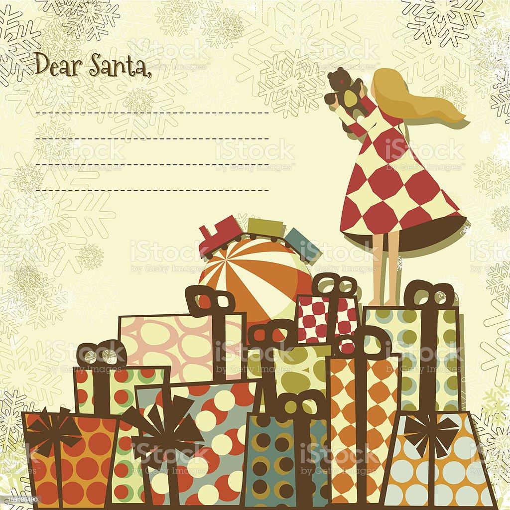 Santa And christmas gifts royalty-free stock vector art