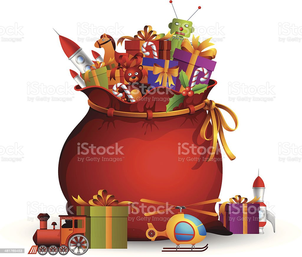 Santa Bag royalty-free stock vector art