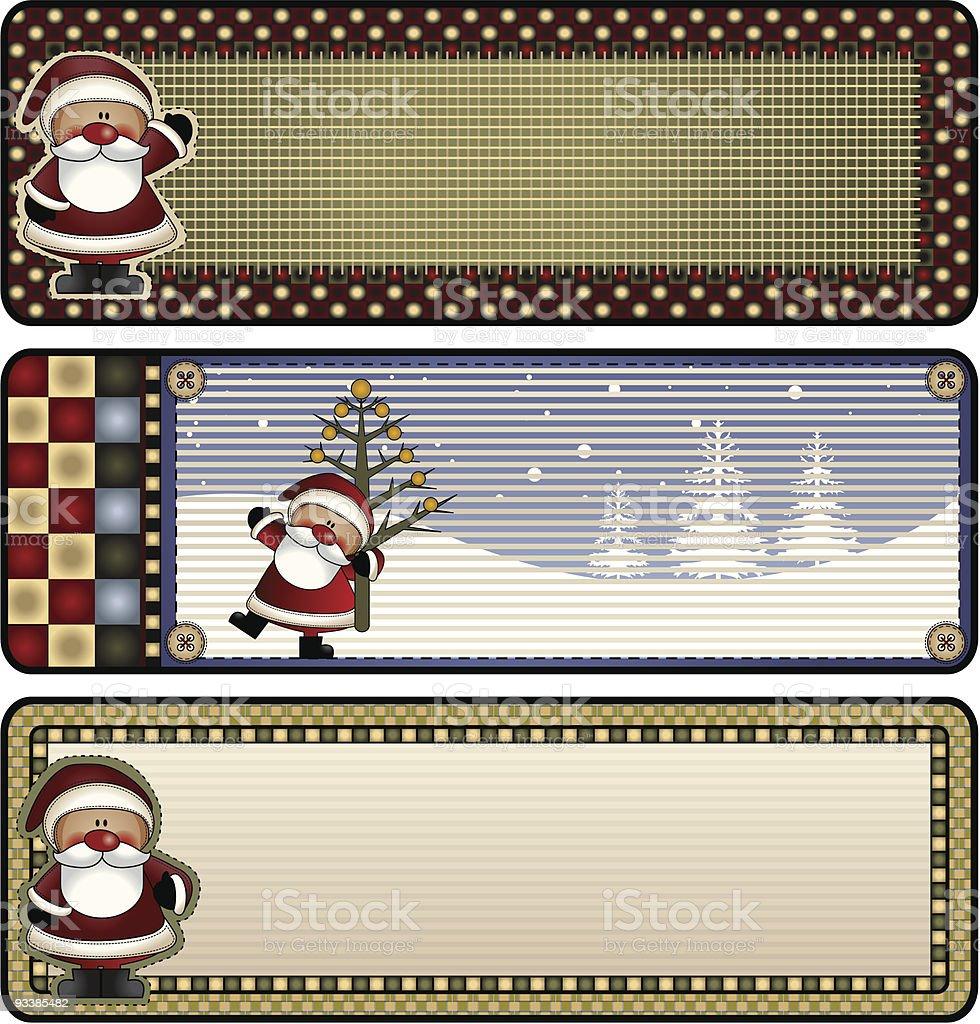 Santa Banners royalty-free stock vector art