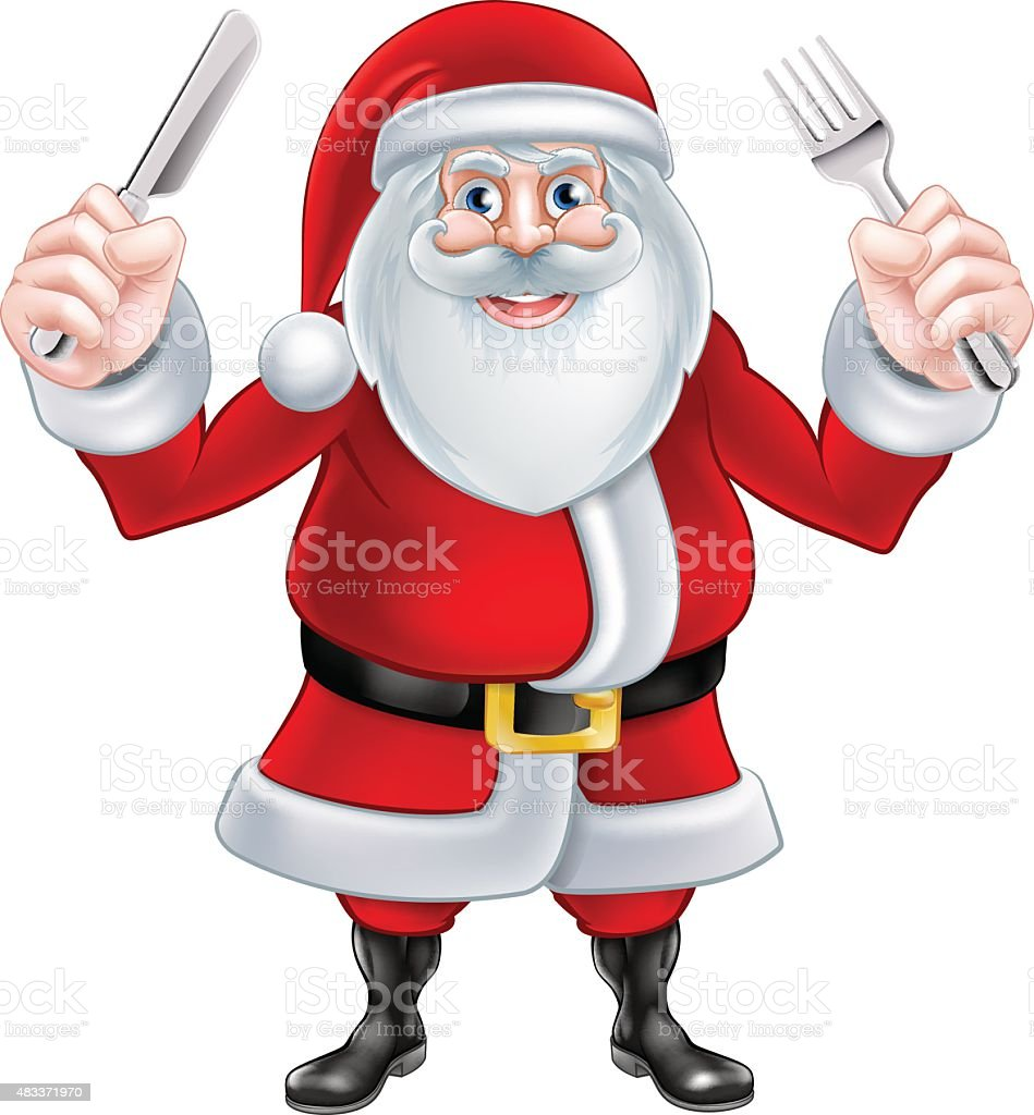 Santa Christmas Food vector art illustration