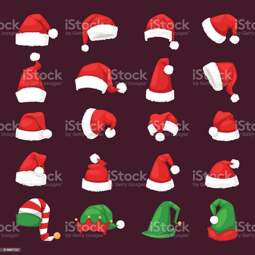 Santa christmas hat vector illustration. vector art illustration