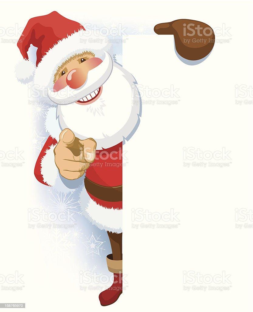 Santa Claus advertising royalty-free stock vector art