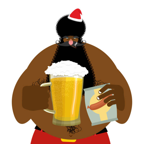Drunk Smiley Dressed As A Santa Clause Clip Art, Vector Images ...