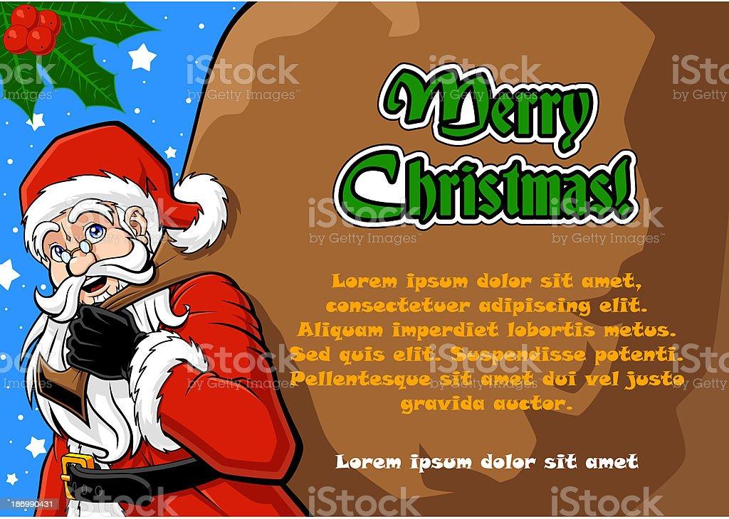 Santa Claus and his sack royalty-free stock vector art