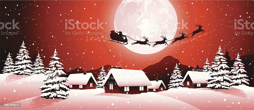 Santa Claus and his sleigh royalty-free stock vector art