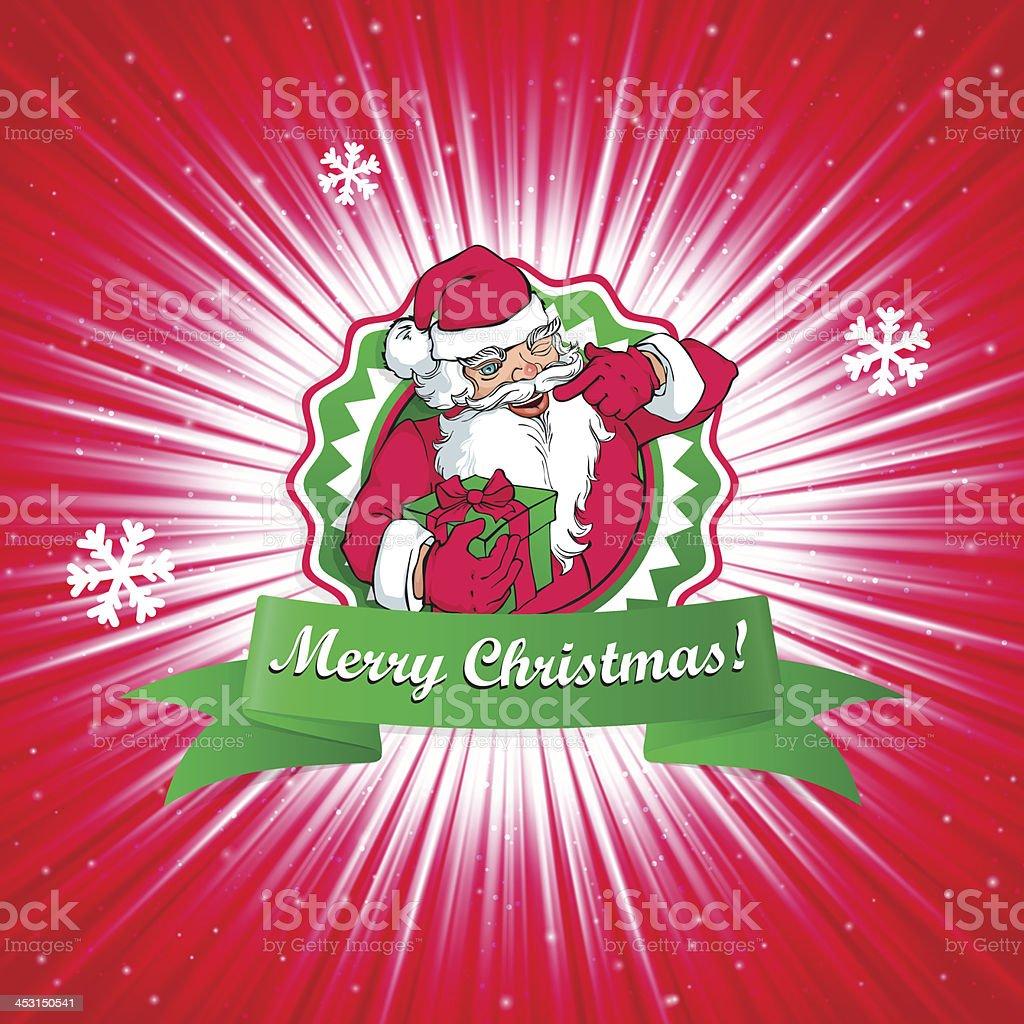Santa Claus Christmas card royalty-free stock vector art