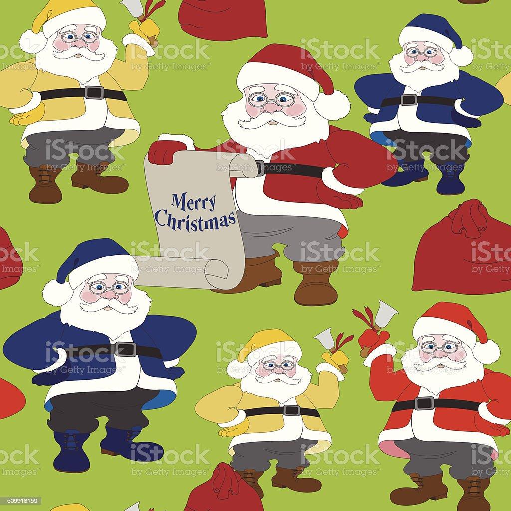 Santa Claus. Christmas seamless pattern royalty-free stock vector art