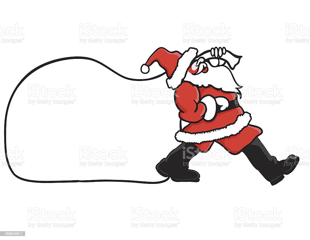 Santa Claus Christmas vector art illustration