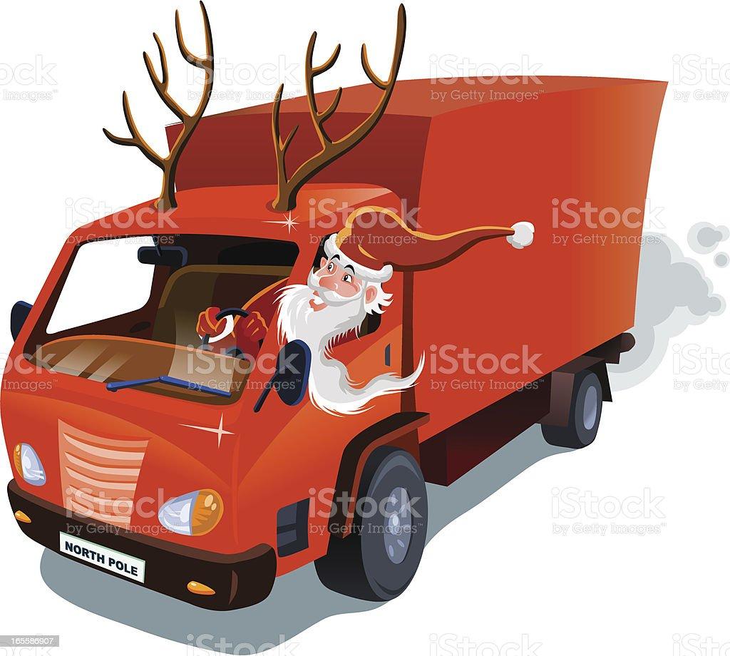 Santa Claus Delivery Service vector art illustration
