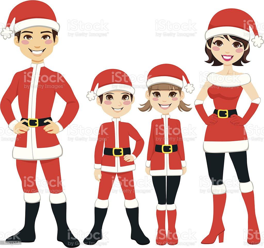 Santa Claus Family royalty-free stock vector art