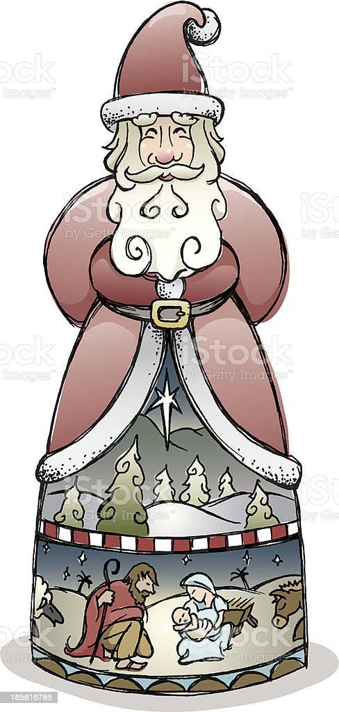 Santa Claus figurine vector art illustration