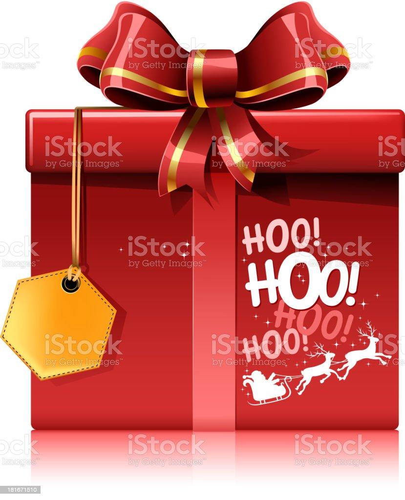 santa claus gift box vector art illustration