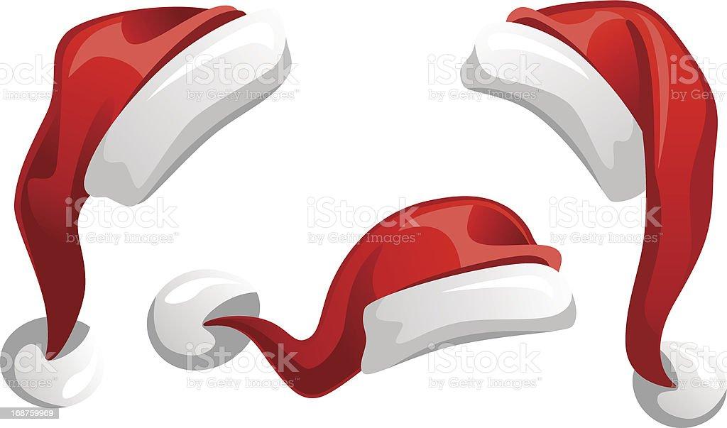 Santa Claus Hat vector art illustration