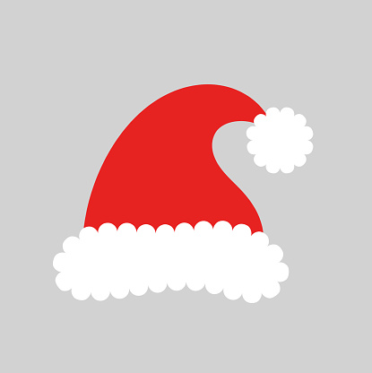 Santa Hat Clip Art, Vector Images & Illustrations - iStock