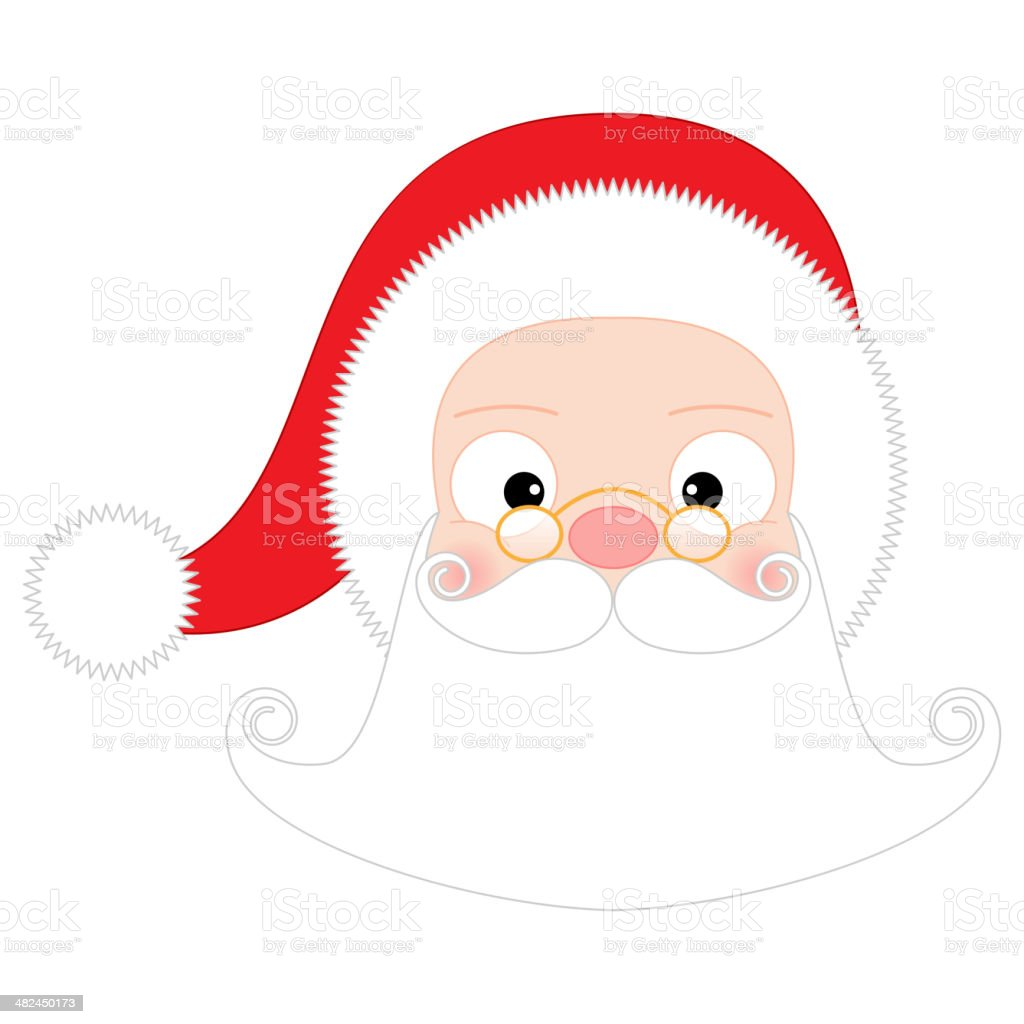 Santa Claus Head royalty-free stock vector art