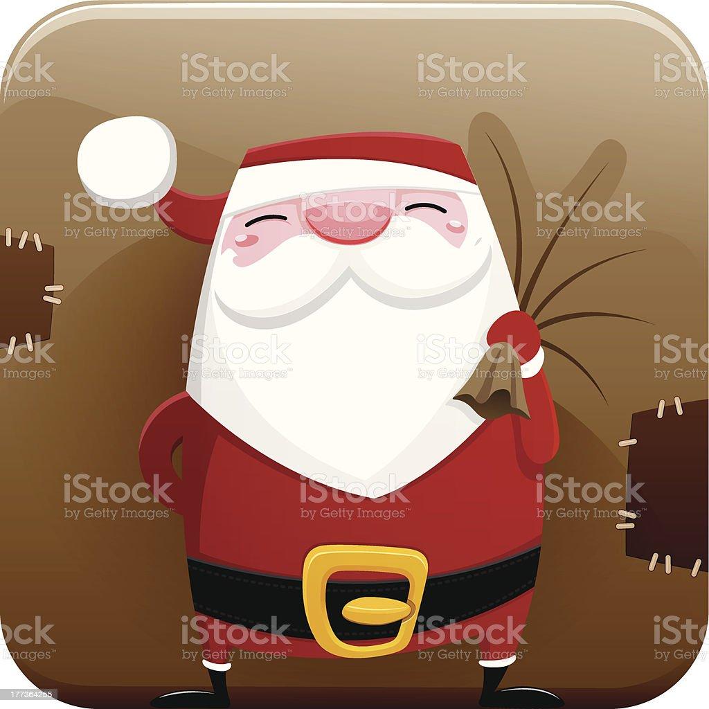 Santa Claus icon royalty-free stock vector art