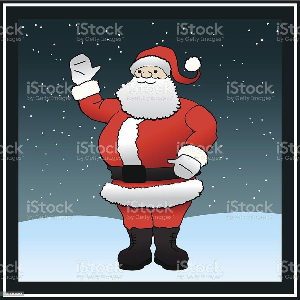 Santa Claus in Snow vector art illustration
