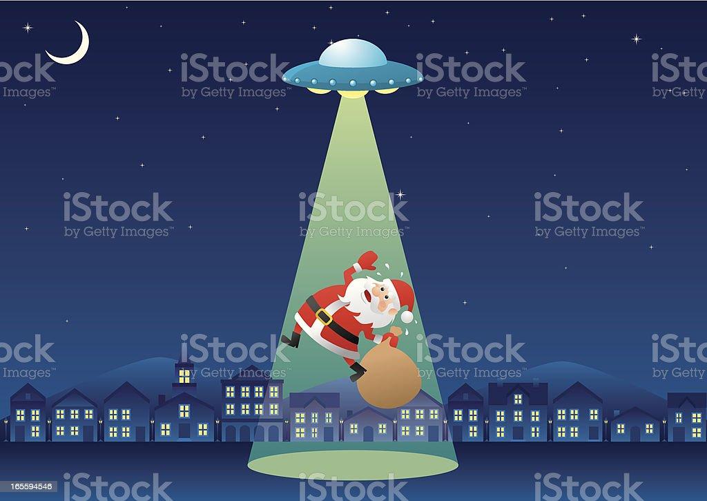 Santa Claus Kidnapped (Landscape) royalty-free stock vector art
