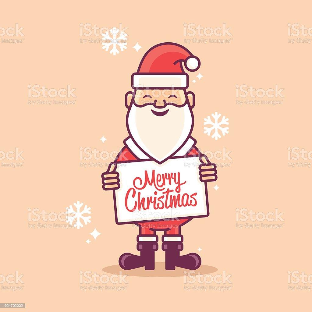Santa Claus Merry Christmas vector art illustration