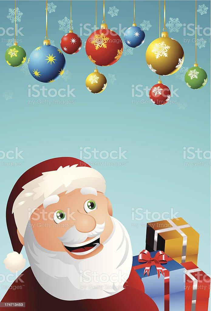 santa claus on christmas joy royalty-free stock vector art