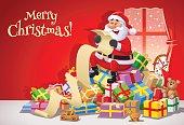 Santa Claus Reading A Long Wish List