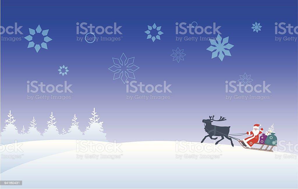Santa Claus & renne stock vecteur libres de droits libre de droits