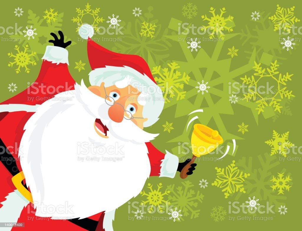 Santa Claus Ringing His Bell stock vector art 140012400 | iStock