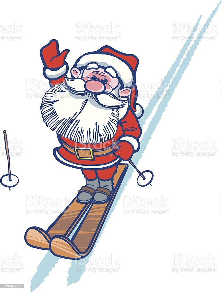 Santa Claus Skier royalty-free stock vector art
